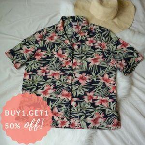 Bon Worth Tropical Button Up Shirt (sz L)